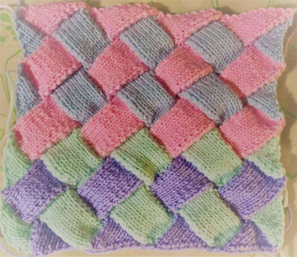 how to knit entrelac - pre-blocked