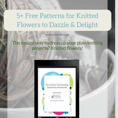 5+ Free Patterns for Knitted Flowers to Dazzle & Delight