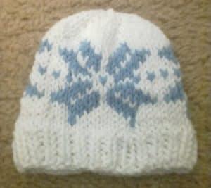 snowflake preemie hat