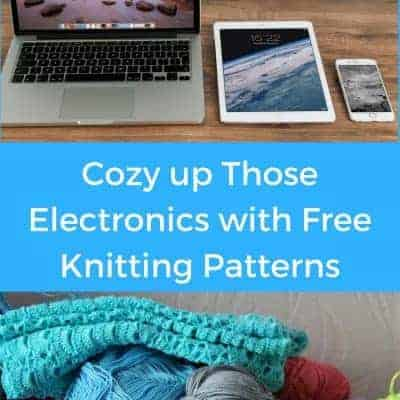 Knitting and Fundraising for Charity, Part 5: Free Knitting Patterns for Electronics Cozies