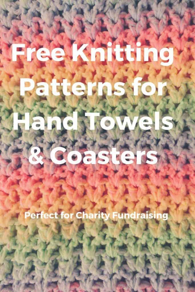 Knitting and Fundraising for Charity, Part 3: Free Knitting Patterns for Hand Towels and Coasters