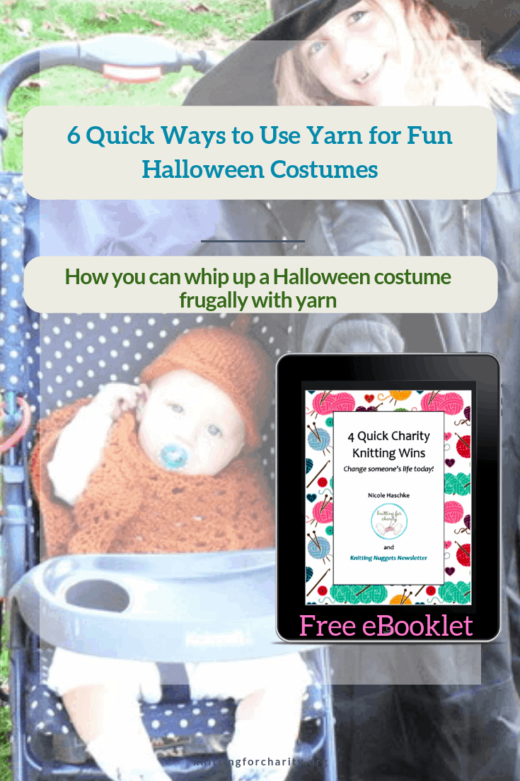 Quick Halloween Costumes with yarn