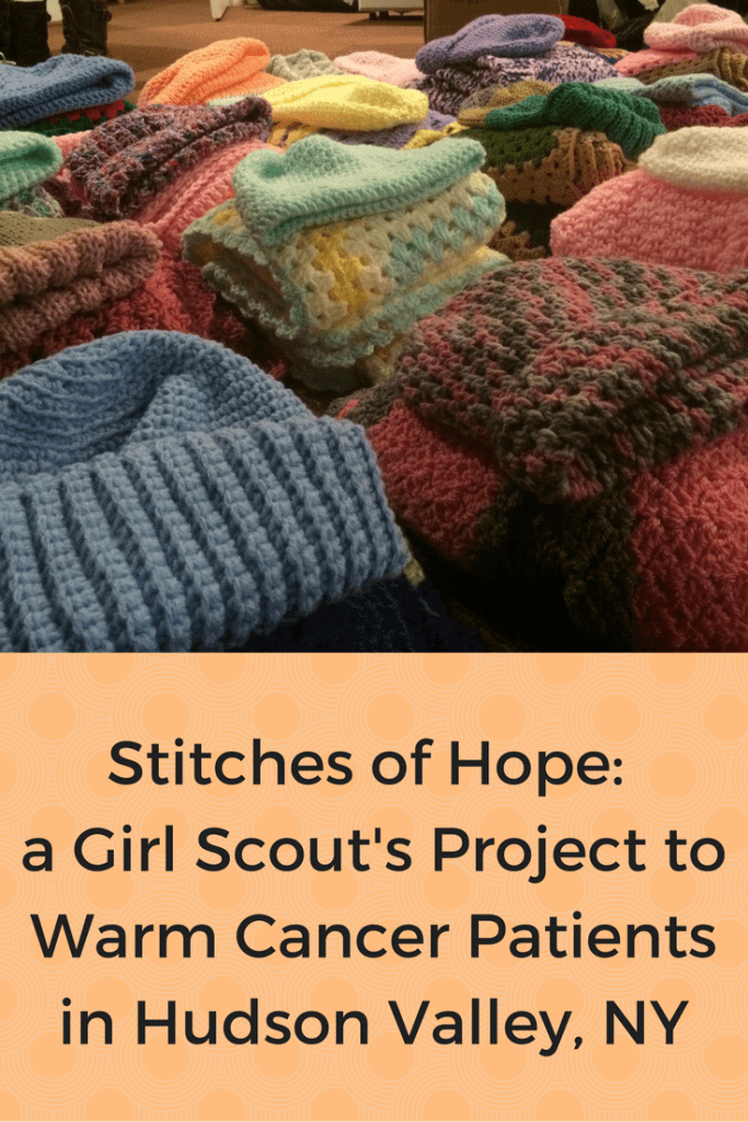 Warming Cancer Patients in Hudson Valley, NY with Girl Scout's Stitches of Hope