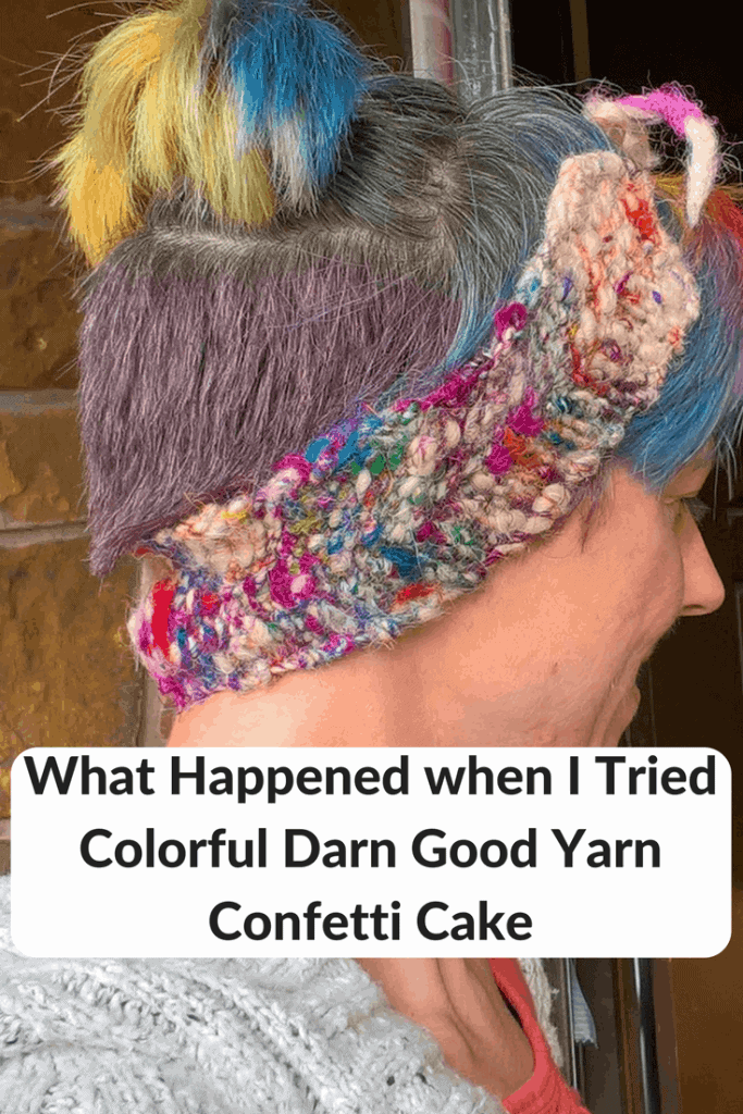 What Happened When I Tried Colorful Darn Good Yarn Confetti Cake