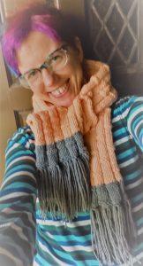 bamboo stitch scarf