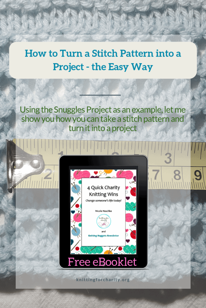 How to Turn a Stitch Pattern into a Project – the Easy Way