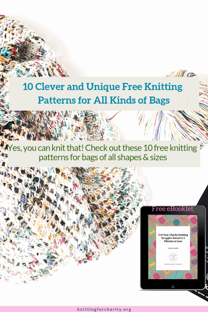 10 Clever and Unique Free Knitting Patterns for All Kinds of Bags