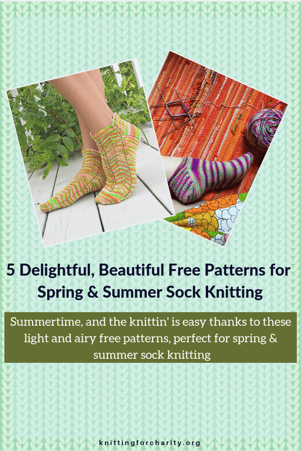 Spring and Summer Sock Knitting patterns
