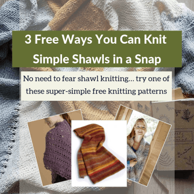 3 Free Ways You Can Knit Simple Shawls in a Snap