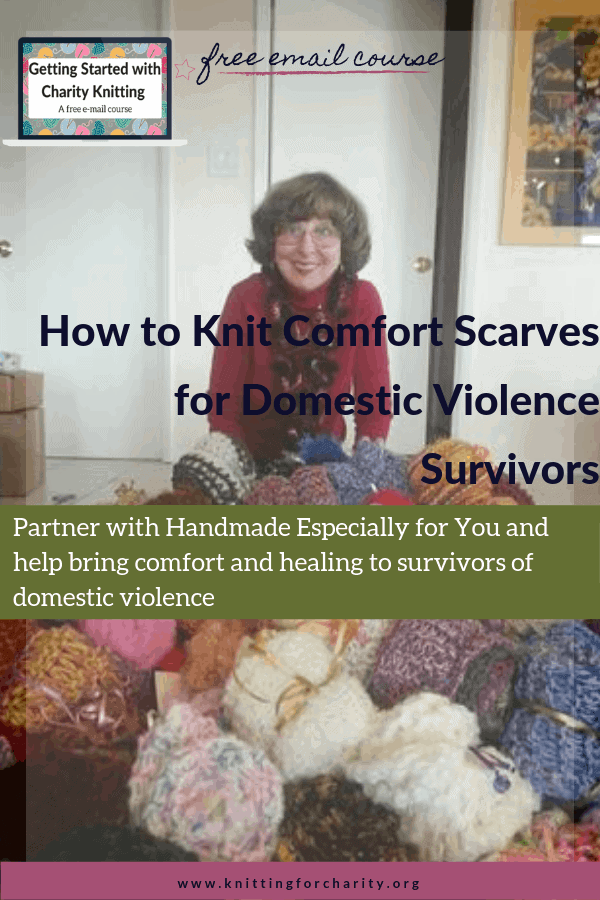 How to Knit Comfort Scarves for Domestic Violence Survivors