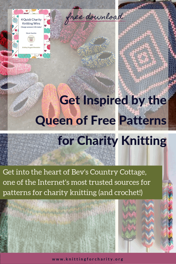 Bev's Country Cottage - patterns for charity knitting
