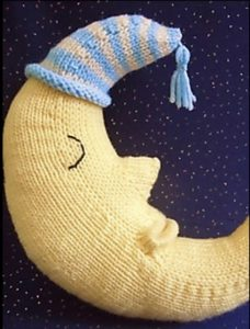Goodnight Moon - free knitting pattern for pillow