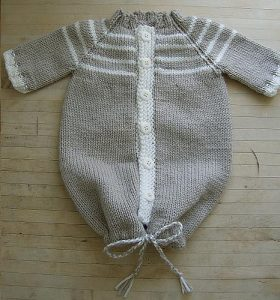 Comfy Angel's Nest - baby cocoon knitting pattern