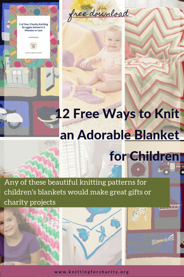 12 Free Ways to Knit an Adorable Blanket for Children