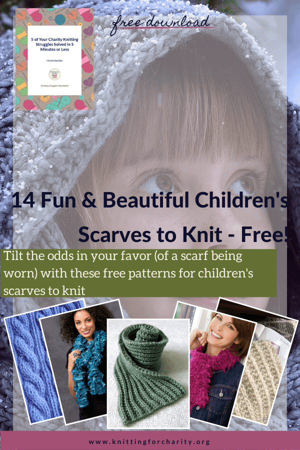 14 Fun & Beautiful Children's Scarves to Knit – Free!