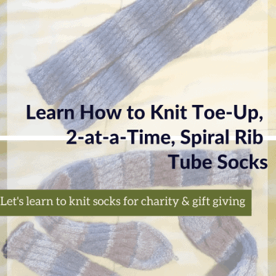 Learn How to Knit Toe-Up, 2-at-a-Time, Spiral Rib Tube Socks