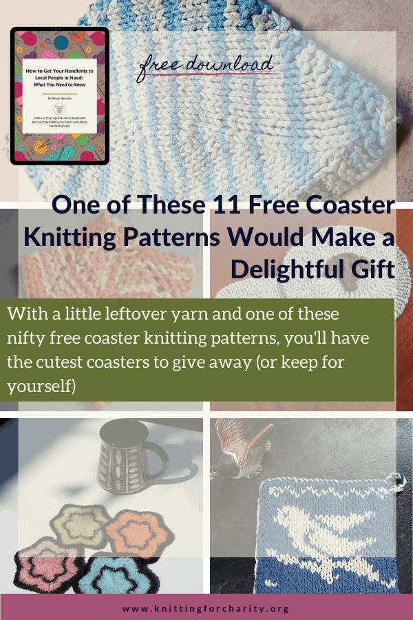 One of These 11 Free Coaster Knitting Patterns Would Make a Delightful Gift