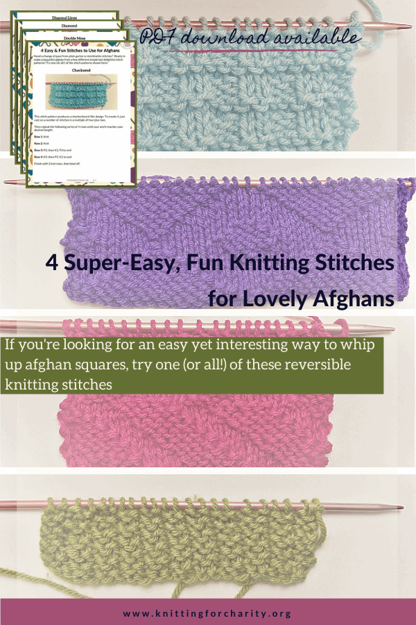4 Super-Easy, Fun Knitting Stitches for Lovely Afghans