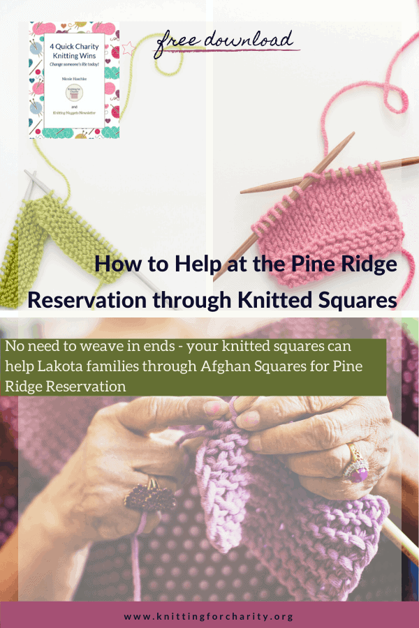 How to Help at the Pine Ridge Reservation through Knitted Squares