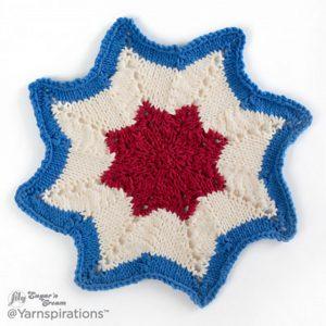 Americana Knit Dishcloth