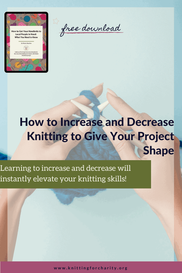 Common knitting increases and decreases