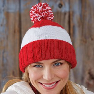 Patons Patriot Stripes Hat - Yarnspirations