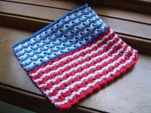 Broad Stripes Bright Stars dishcloth