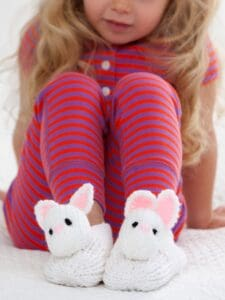 Red Heart Pet Pal Bunny Slippers