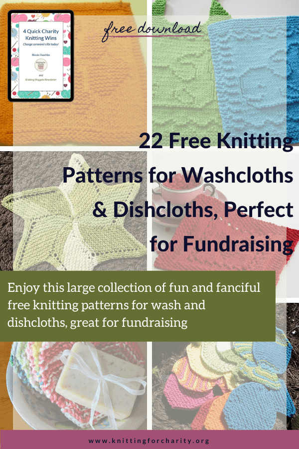 22 Free Knitting Patterns for Washcloths & Dishcloths, Perfect for Fundraising