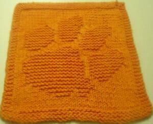 Paw dishcloth