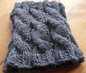 Simple Cable Boot Cuffs