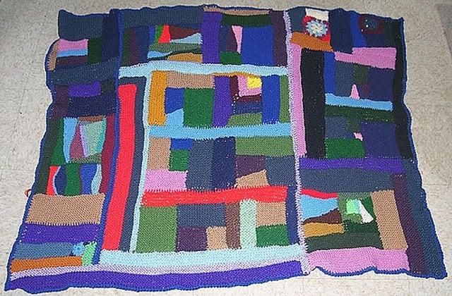 Wonky Log Cabin - Insane Blanket Pattern
