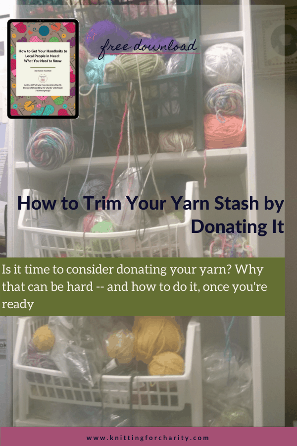 How to Trim Your Yarn Stash by Donating It