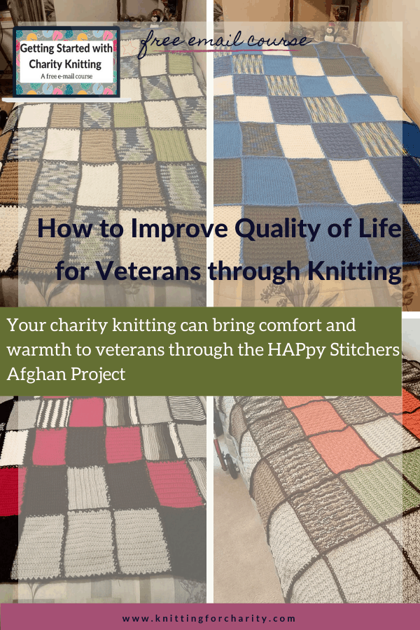 Charity knitting for veterans - HAPpy Stitchers Afghan Project