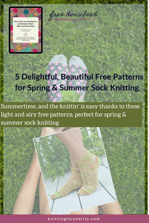 5 Delightful, Beautiful Free Patterns for Summertime Sock Knitting